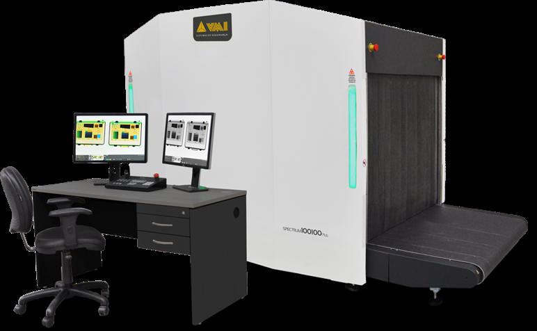 Escáner de rayos x para grandes equipajes